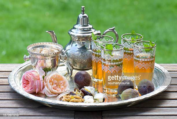 moroccan tea - moroccan culture stock photos and pictures