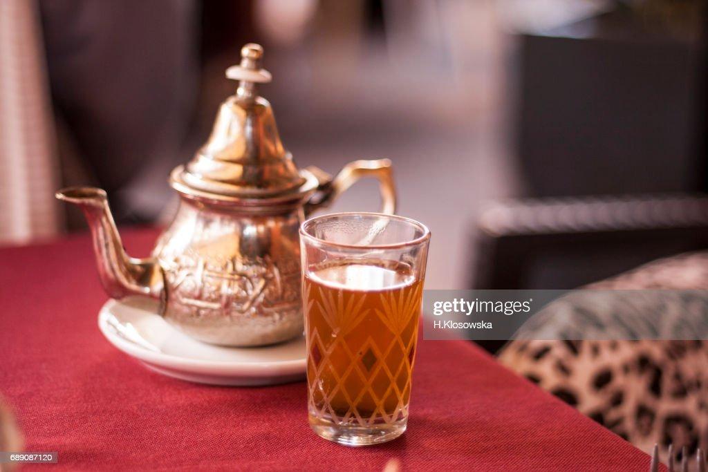 Moroccan tea time : Stock Photo