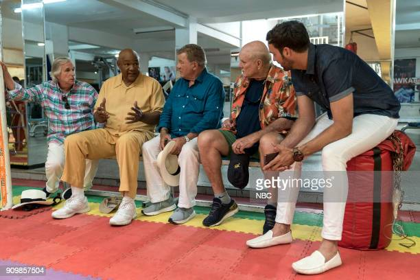 NEVER 'Moroccan Wishes and Camel Dreams' Episode 207 Pictured Henry Winkler George Foreman William Shatner Terry Bradshaw Jeff Dye