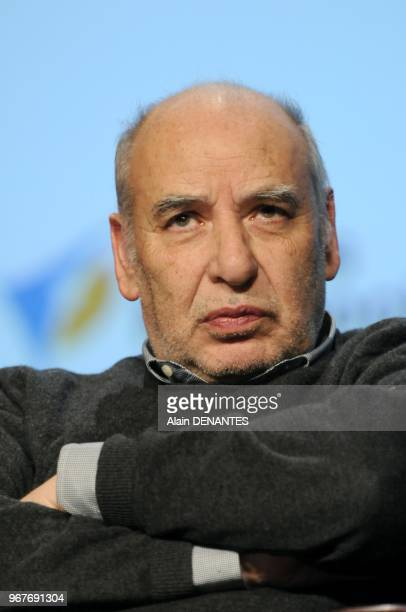 Moroccan writer and poet living in France Tahar Ben Jelloun portrait session on April 13 2013 in Nantes western France