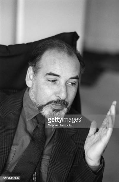 Moroccan writer Tahar Ben Jelloun gestures as he talks in Paris Having immigrated to France in 1961 he writes prose poetry and essays He won the 1987...