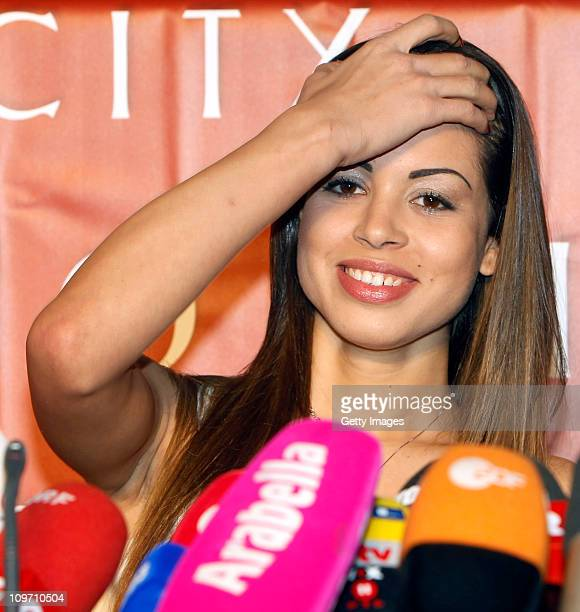 Moroccanborn pole dancer Karima El Mahroug nicknamed 'Ruby the Heart Stealer' attends a press conference at Lugner City on March 2 2011 in Vienna...