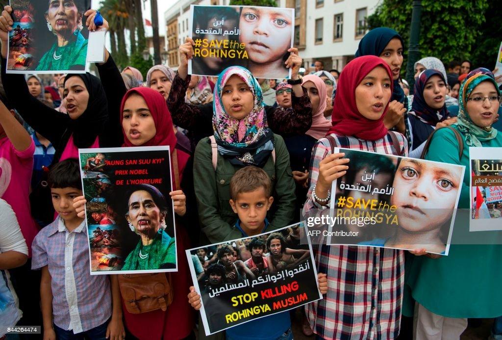 MOROCCO-MYANMAR-UNREST-REFUGEE : News Photo