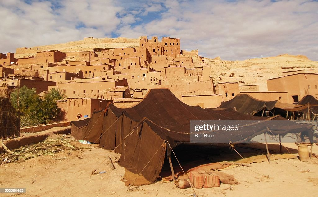 Morocco Ait Benhaddou Bedouin tent  Stock Photo & Morocco Ait Benhaddou Bedouin Tent Stock Photo | Getty Images