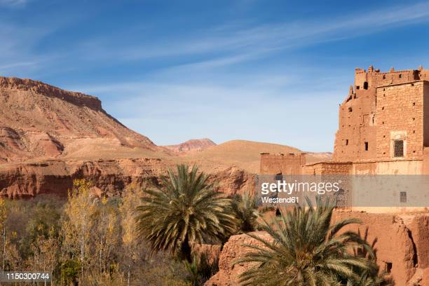 morocco, ait-ben-haddou, kasbah - loam stock photos and pictures