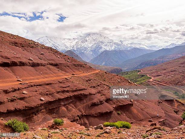 Morocco, Atlas Mountains, Ourika Valley, clay paths in mountains