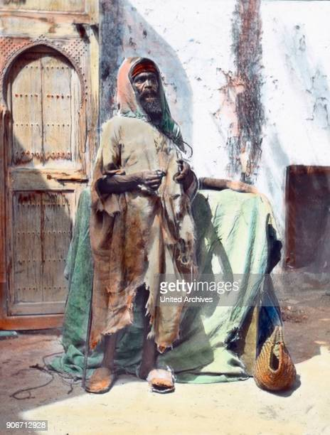 Morocco blind beggar in Tangier image date circa 1910 Carl Simon Archive