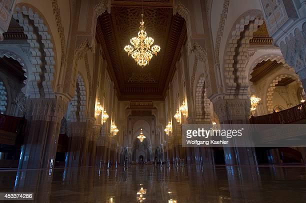 Morocco Casablanca Hassan Ii Mosque Interior