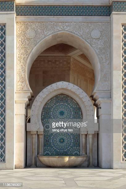morocco, casablanca, hassan ii mosque - mosque hassan ii photos et images de collection