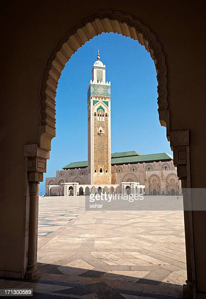 morocco, casablanca, hassan ii mosque - mosque hassan ii stock photos and pictures