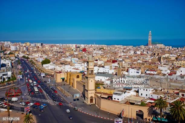 Morocco, Casablanca, Old Medina and Hassan II mosque