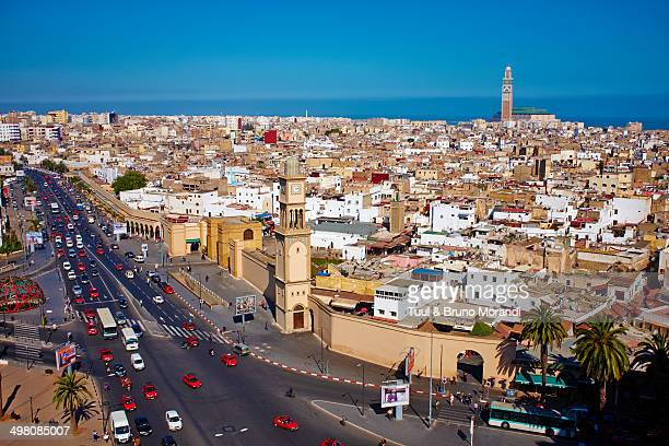 morocco, casablanca, old medina - casablanca photos et images de collection