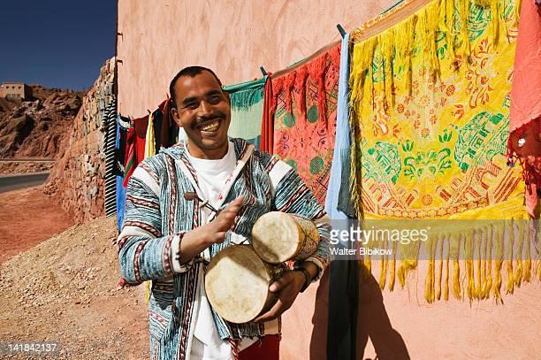 Morocco, Dades Valley-DADES GORGE, Dades Gorge Souvenir Seller