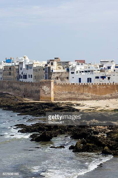 Morocco, Essaouira, Kasbah, cityscape with ocean