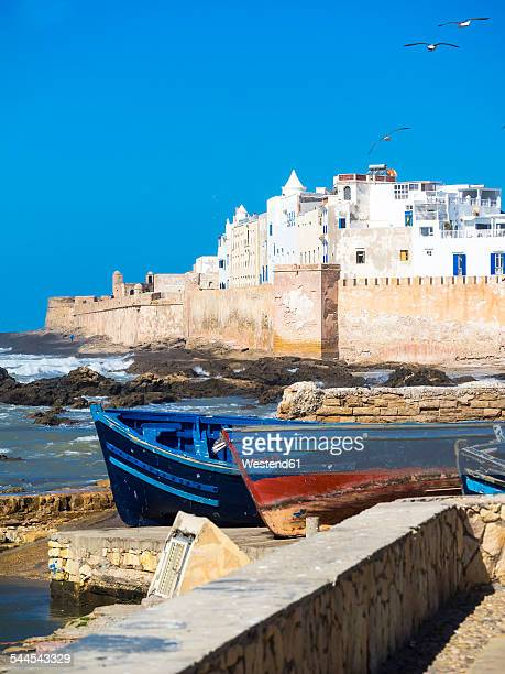 Morocco, Essaouira, Sqala de la Kasbah, sea wall of old town