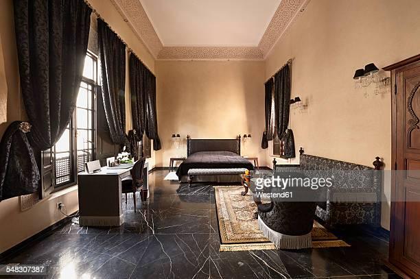 Morocco, Fes, Hotel Riad Fes, hotel room