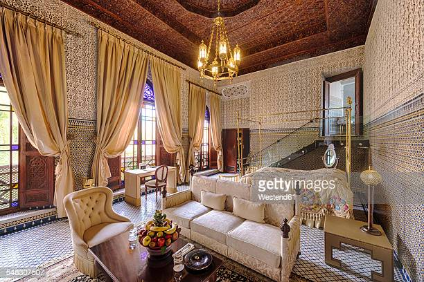 Morocco, Fes, Hotel Riad Fes, hotel suite