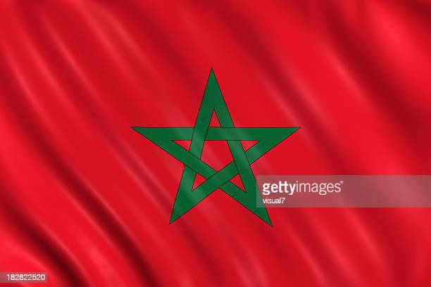 morocco flag - flag stock pictures, royalty-free photos & images