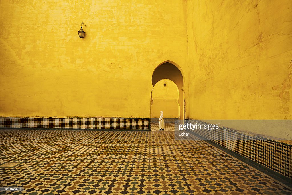 Morocco in mosque : Stock Photo