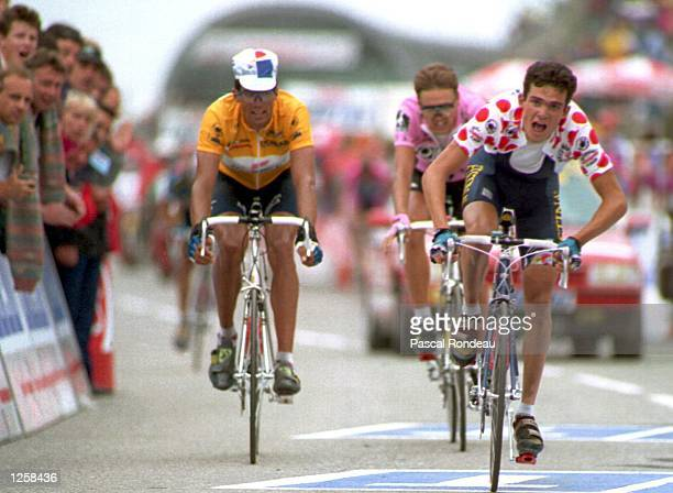 Morocco IN THE KING OF THE MOUNTAIN JERSEY WINS THE BOURG D''OLISANS TO VAL THORENS STAGE 17 IN THE 1994 TOUR DE FRANCE YELLOW JERSEY HOLDER MIGUEL...