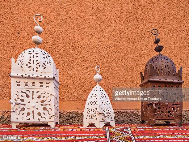Morocco, Marrakech, Arabic lamps