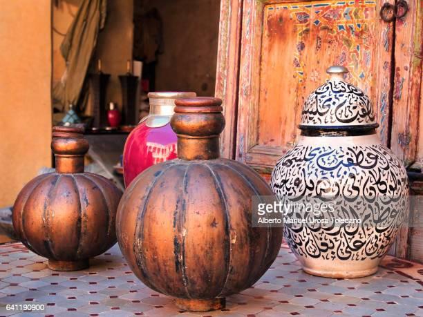 Morocco, Marrakech, Arabic Pots