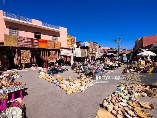 Morocco, Marrakech, View of the souq