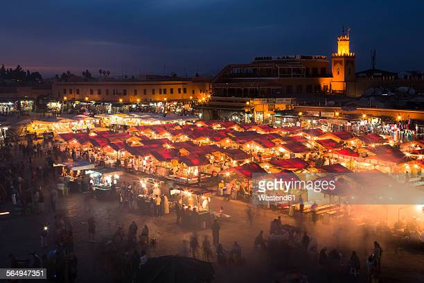 Morocco, Marrakesh, Djemaa el Fna at night