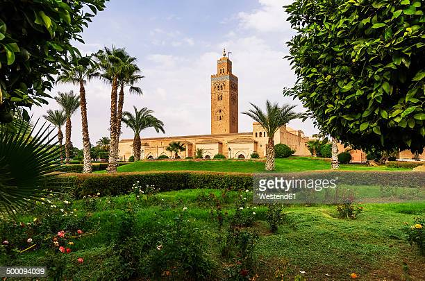 morocco, marrakesh, koutoubia mosque - marrakech photos et images de collection