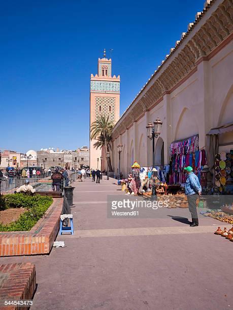 Morocco, Marrakesh, Medina, street vendors at Kasbah Mosque