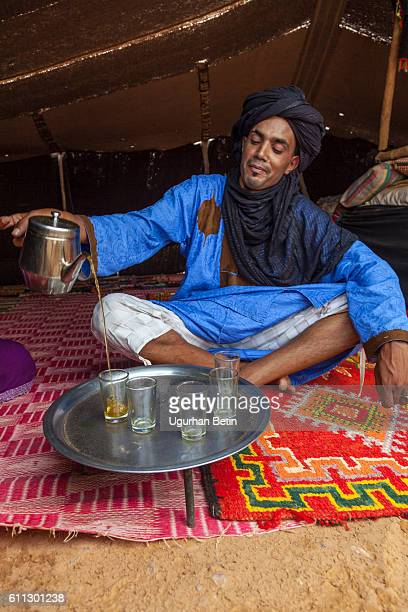 morocco mint tea - tuareg tribe stock pictures, royalty-free photos & images