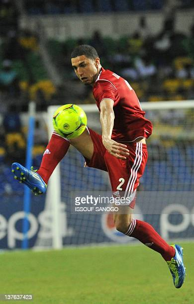 Morocco national football team defender Michael Basser controls the ball during the match against Tunisia at the Stade de l'Amitie on January 23 2012...