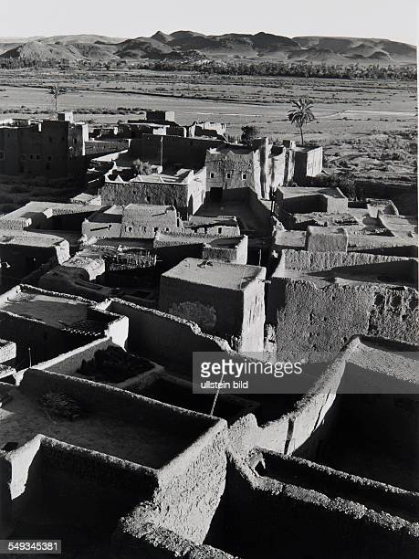 Morocco near Quarzazate loam buildings Kasbah