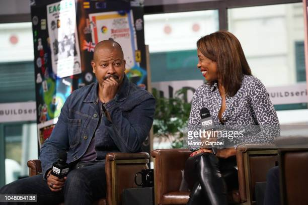 Morocco Omari and Karen Pittman attend Build Series to discuss Pipeline at Build Studio on October 9 2018 in New York City