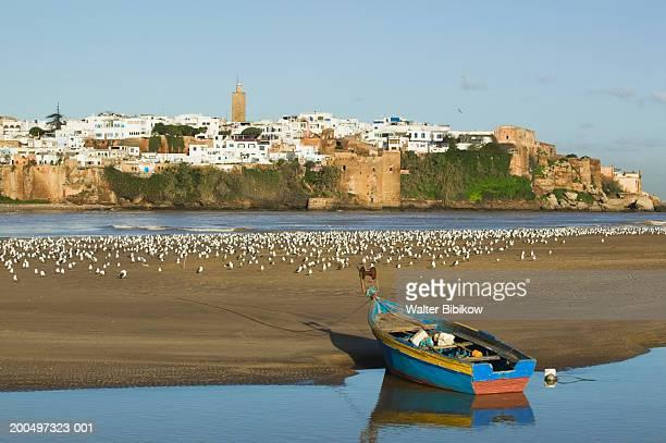 morocco, rabat, kasbah des oudaias, oued bou regreg river - ラバト ストックフォトと画像