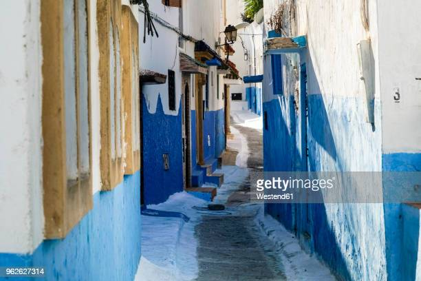 morocco, rabat, narrow alley - rabat morocco stock pictures, royalty-free photos & images