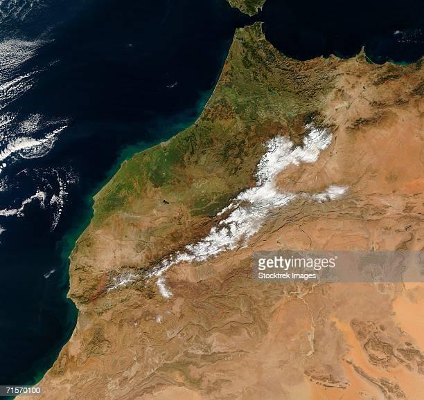 'Morocco, satellite image'