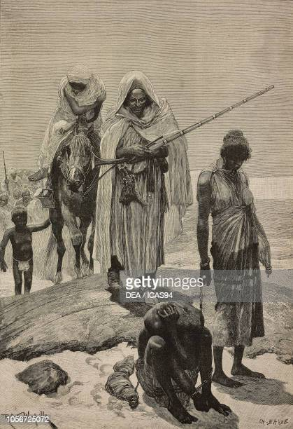 Morocco slave traders returning from Timbuktu engraving from a drawing by Richard Caton Woodville The Illustrated London News No 2723 June 27 1891