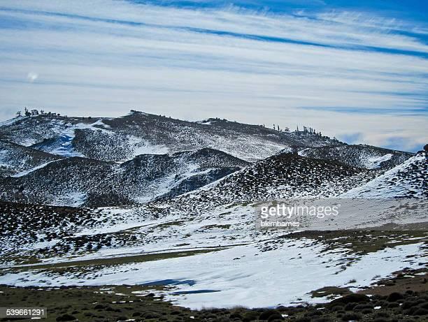 Morocco, Snow in Atlas Mountains