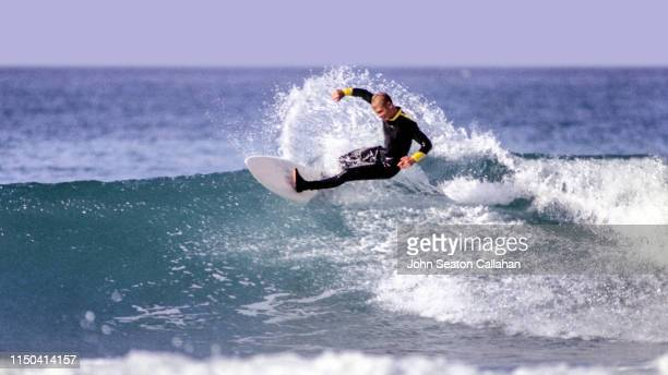 morocco, surfing in the atlantic ocean - agadir stock pictures, royalty-free photos & images
