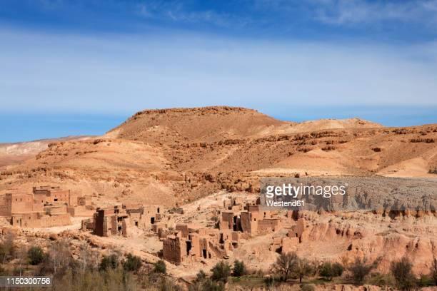 morocco, telouet, kasbah - telouet kasbah photos et images de collection