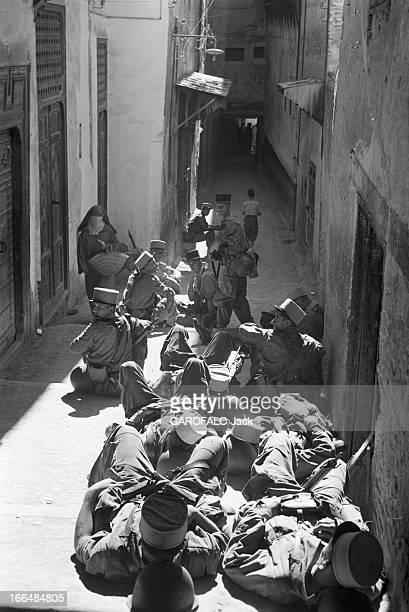 Tensions In Moroccoas The Celebration Of Aid El Kebir Approachs Maroc Aout 1954 lors de manifestations pro 'Youssefistes' en faveur du retour du...