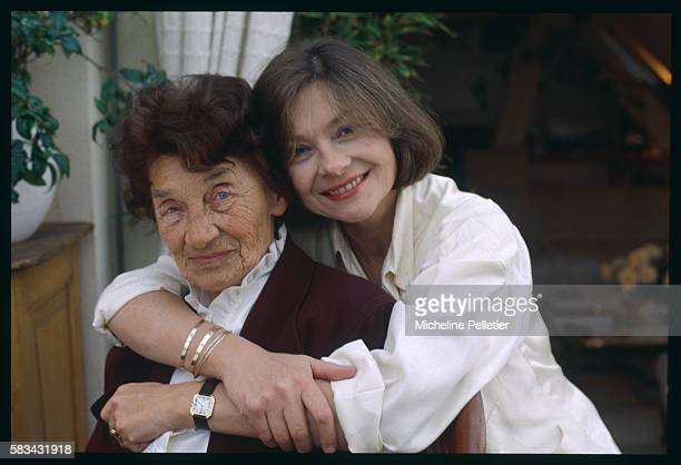 Morocco-born French supporting actress, Macha Meril, poses with her mother, Marie Gagarine.