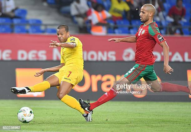 Morocco's El Ahmadi vies for the ball against Togo's Dossevi during the African Cup of Nations Group C soccer match between Morocco and Togo at the...