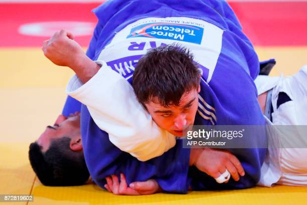 Morocco's El Mehdi Malki competes against Ukraine's Oleksandr Gordiienko during the Judo World Championships Open in Marrakesh on November 11 2017 /...