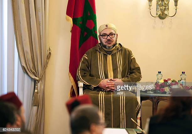 Morocco's King Mohammed VI attends the signing ceremony of bilateral agreements between Ethiopia and Morocco in Addis Ababa on November 19 2016 / AFP...