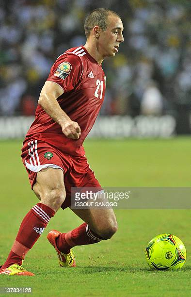 Morocco's Noureddine Amrabat dribbles during the Africa Cup of Nations 2012 Group C football match between Gabon and Morocco at the stade de l'amitie...