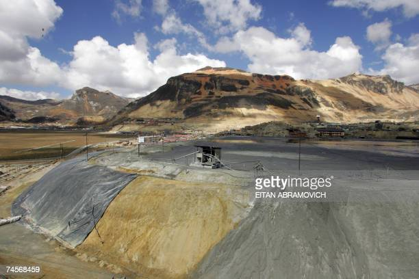TO GO WITH AFP STORY View 01 June 2007 of mining waste in Morococha Peru The Morococha mining town 141 km east of Lima600m above sea level and with...