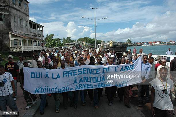 Comorians of Anjouan origins demonstrate 25 December 2006 against a possible secession of the island from the Union of the Comoros in Moroni On 18...