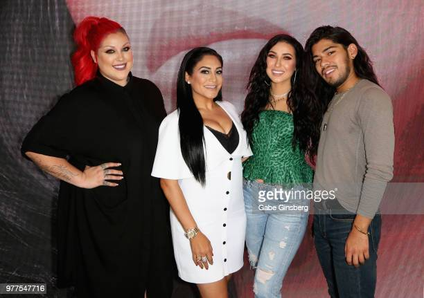 Morphe Director of Global Artistry Nicole Faulkner Morphe owner Linda Tawil YouTube personality Jaclyn Hill and hair stylist Jesus Guerrero attend...